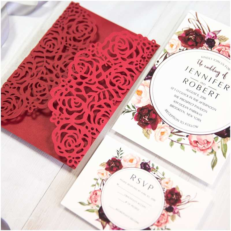 Red Wedding Invitations Red Wedding Invitations Line