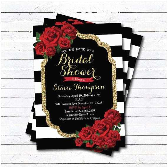 Red White and Gold Wedding Invitations Best 25 Red Bridal Showers Ideas On Pinterest