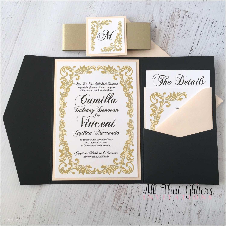 Red White and Gold Wedding Invitations Camilla Vintage Wedding Invitation Suite