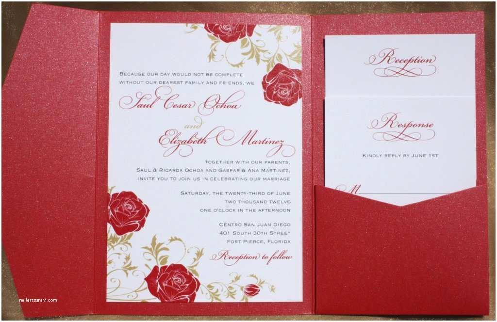 Red White and Gold Wedding Invitations Floral Archives Page 9 Of 22 Emdotzee Designs