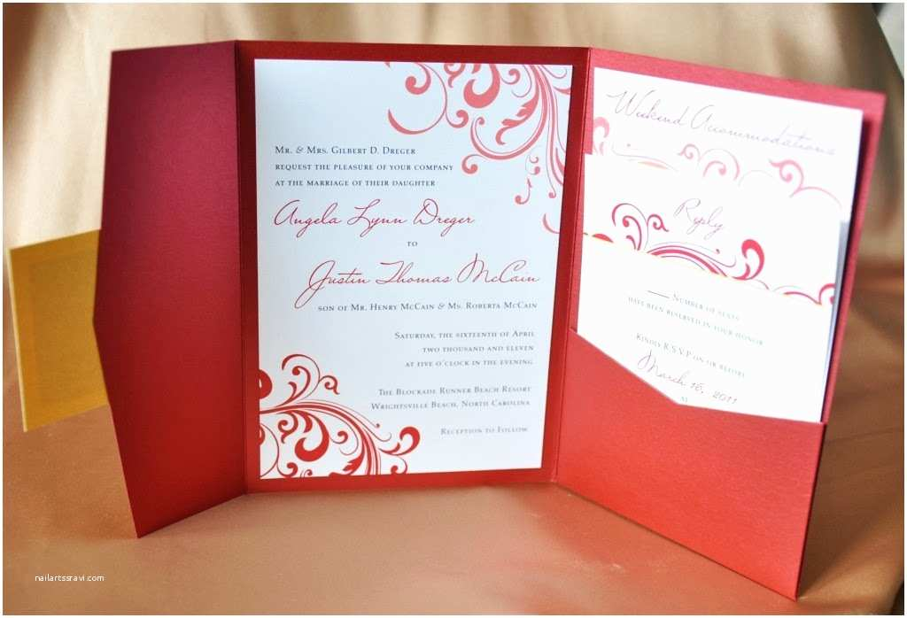 Red White and Gold Wedding Invitations Karl Landry Wedding Invitations Blog Wedding Invitations
