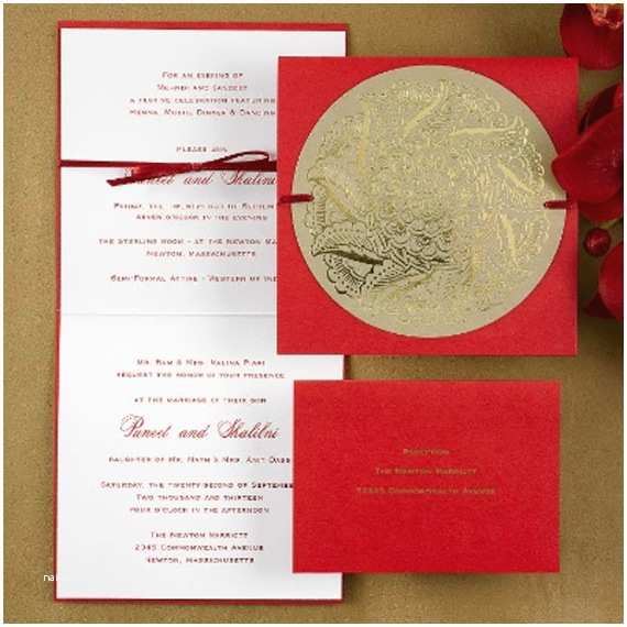 Red White and Gold Wedding Invitations Modern Wedding Invitation Awesome Red Wedding Invitation