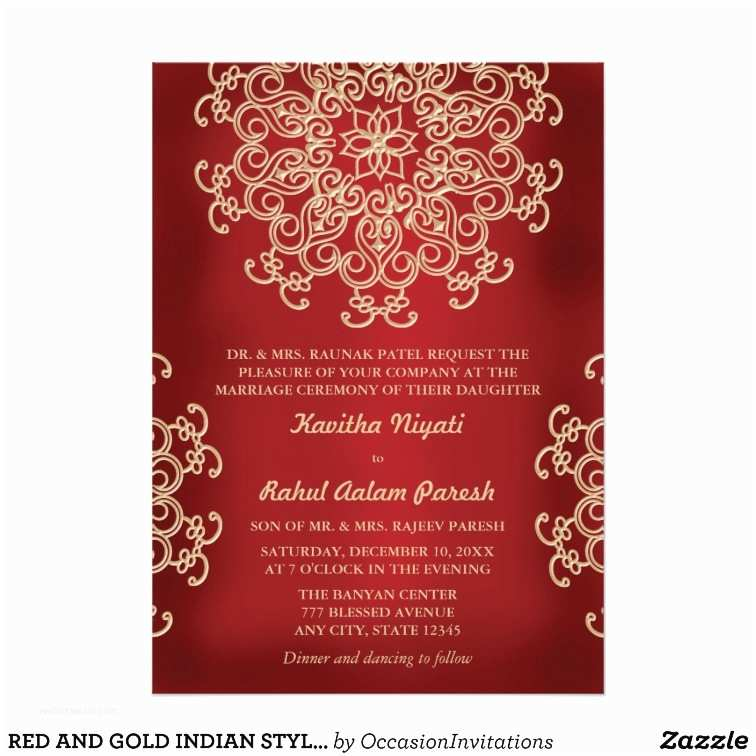 Red White and Gold Wedding Invitations Red and Gold Wedding Invitation Templates Yaseen for
