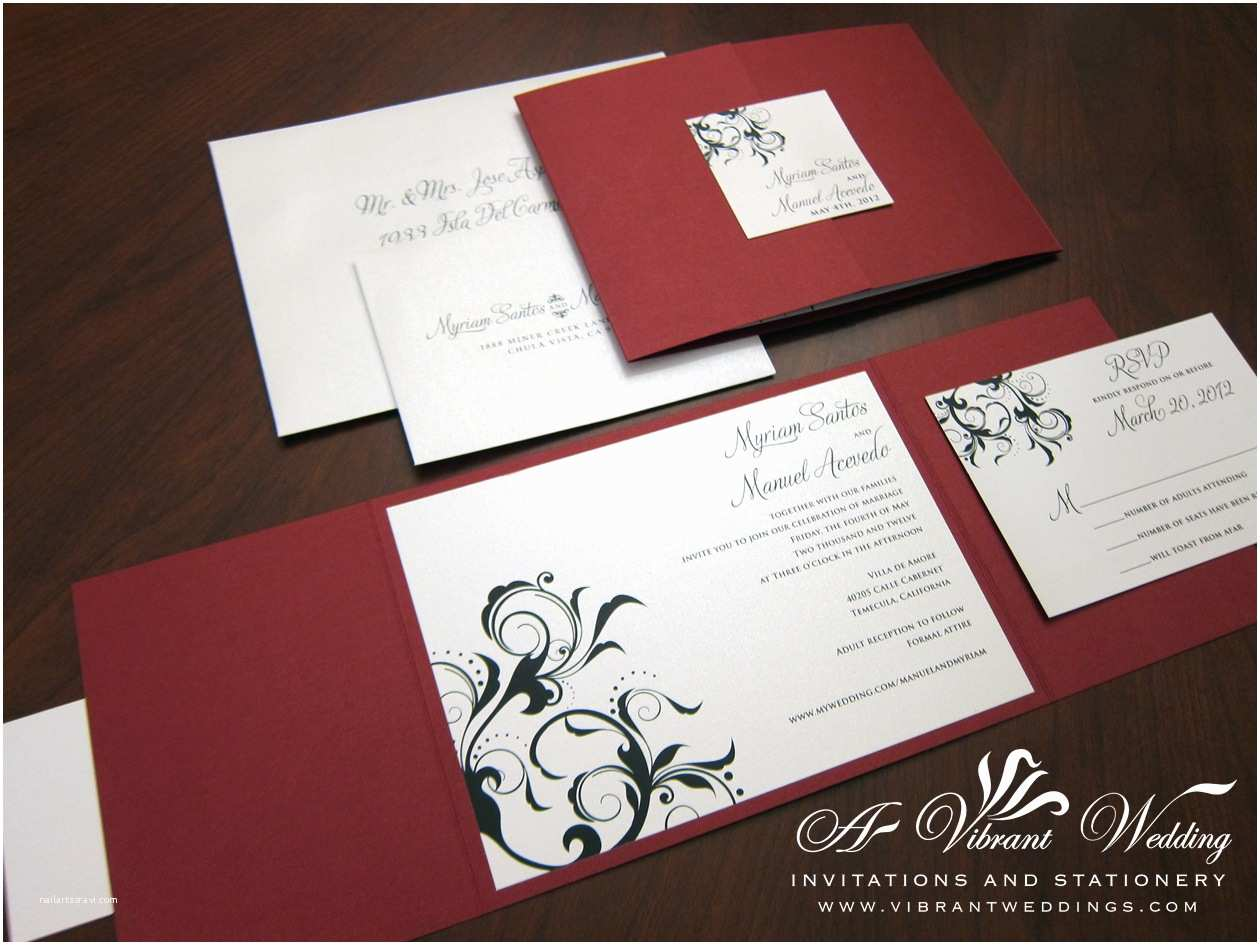 Red White and Gold Wedding Invitations Red Wedding Invitation – A Vibrant Wedding