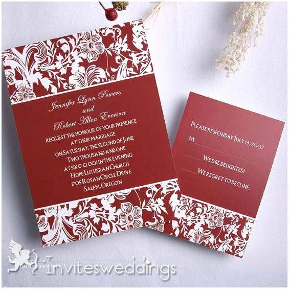 Red White and Gold Wedding Invitations Red Wedding Invitations Cheap Invites at Invitesweddings