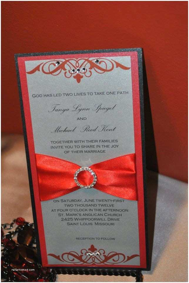 Red White and Silver Wedding Invitations Red Black and Silver Wedding