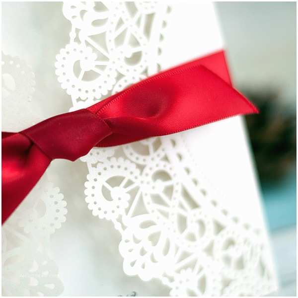 Red White and Silver Wedding Invitations Red Wedding Invitations Line