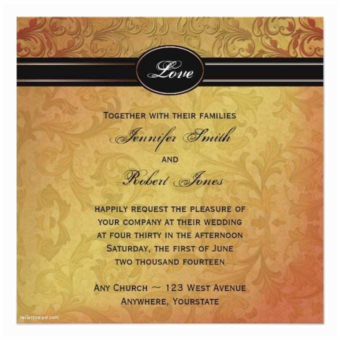 Regency Wedding Invitations 2170 Best Fall Wedding Invitations Images On Pinterest