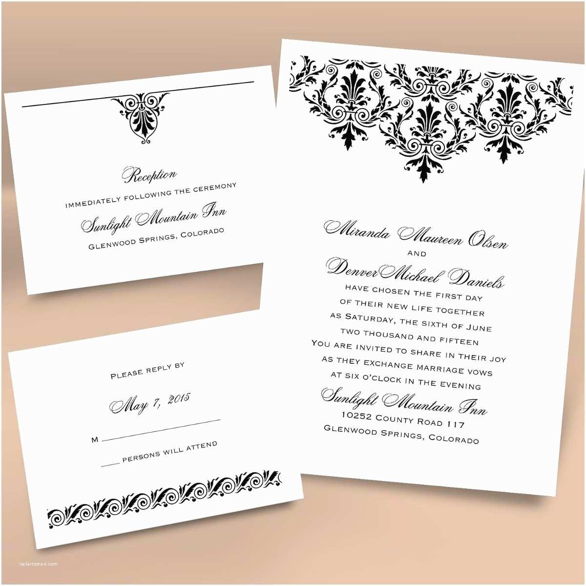 Registry On Wedding Invitation Ann S Bridal Bargains Wedding Invitations S by Ann S