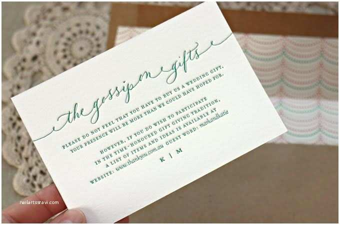 Registry On Wedding Invitation Cute Wording for A Registry Card by Bespoke Press