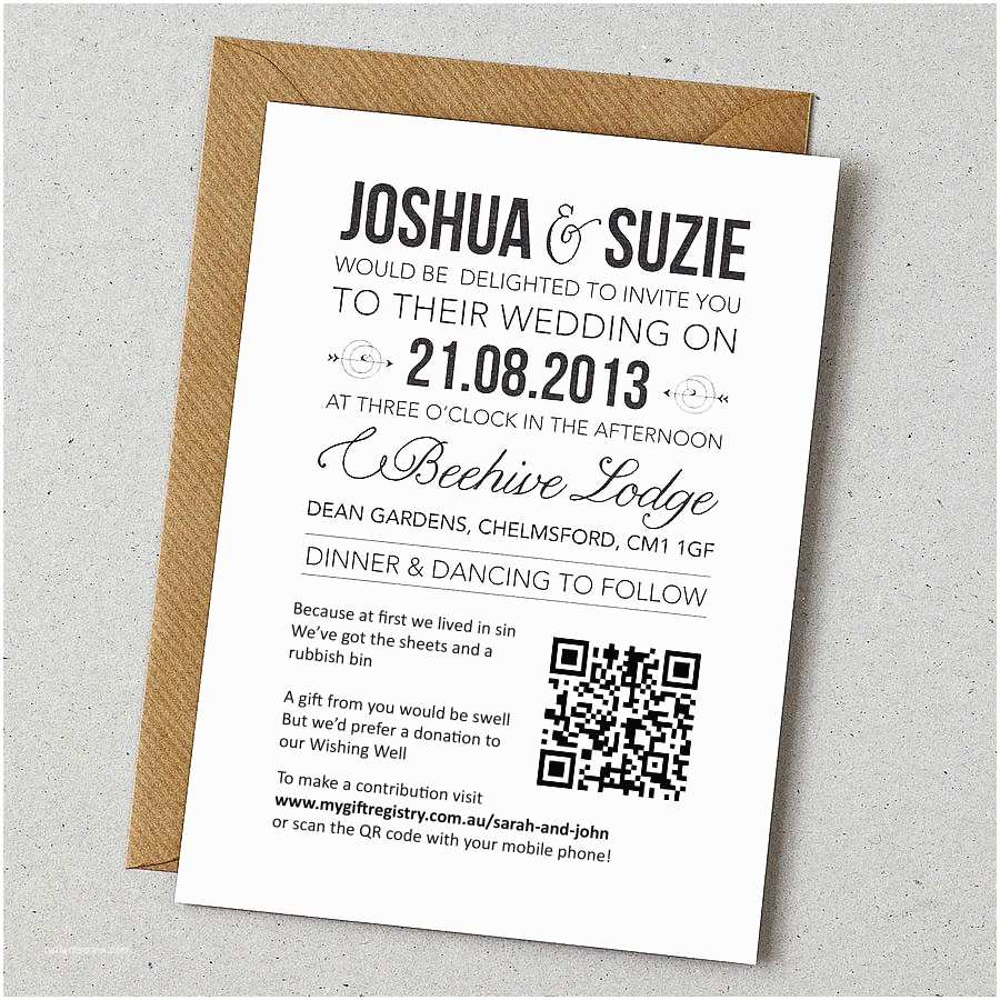 Registry On Wedding Invitation Example Invitation