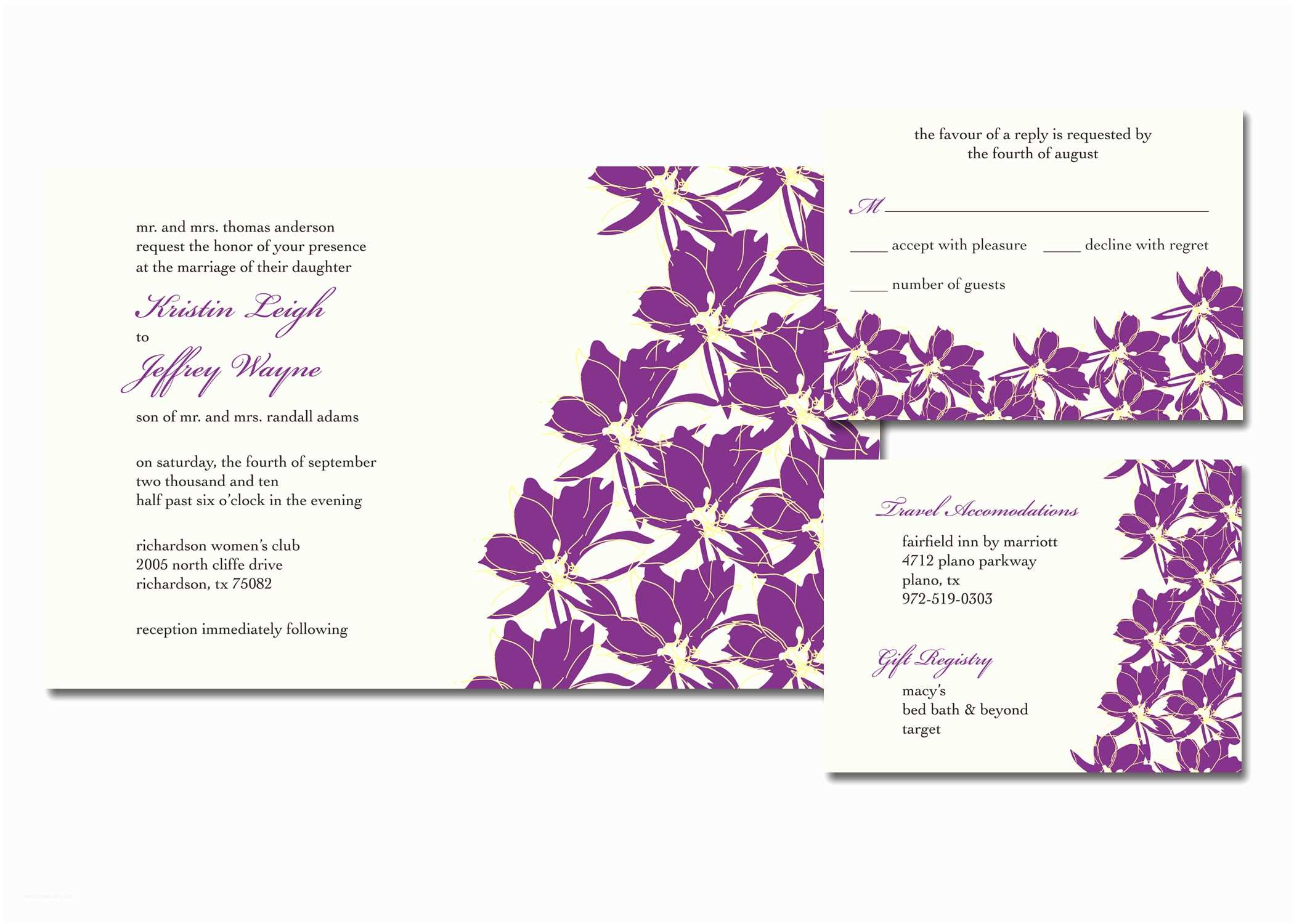 Registry On Wedding Invitation Invitations & Announcements by Kim Patton at Coroflot