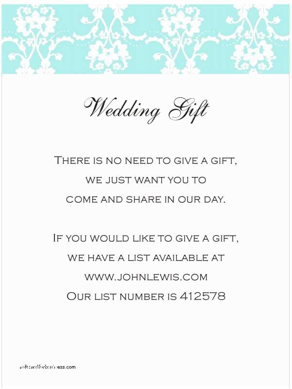 Registry On Wedding Invitation Wedding Invitation New How to Word Gift Registry