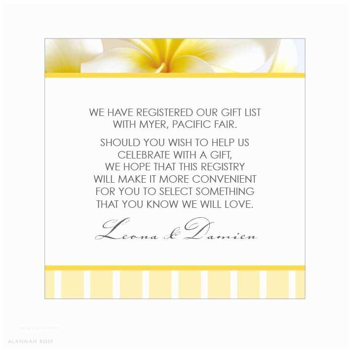 Registry On Wedding Invitation Wedding Invitation Wording Gifts Yaseen for