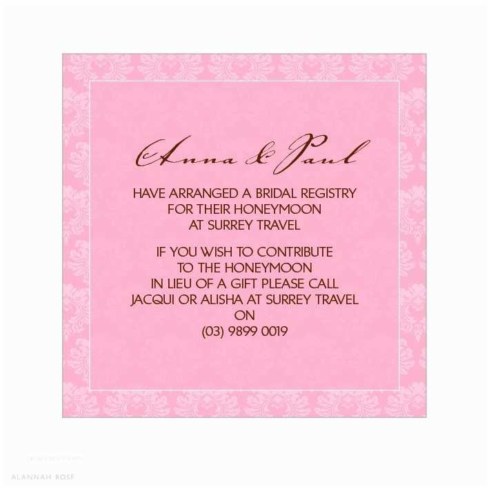 Registry On Wedding Invitation Wedding Invitation Wording Registry Yaseen for