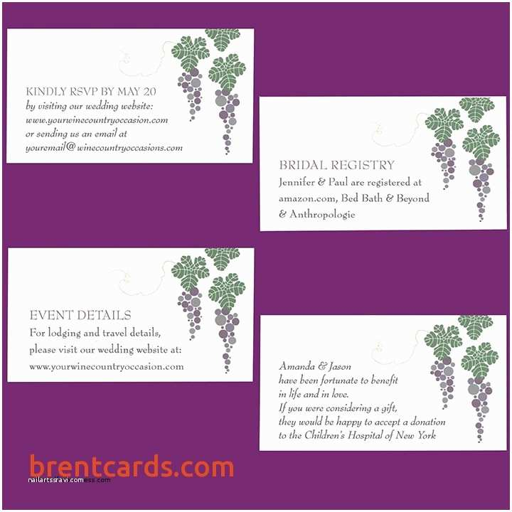 Registry On Wedding Invitation Wedding Registry Card Wording