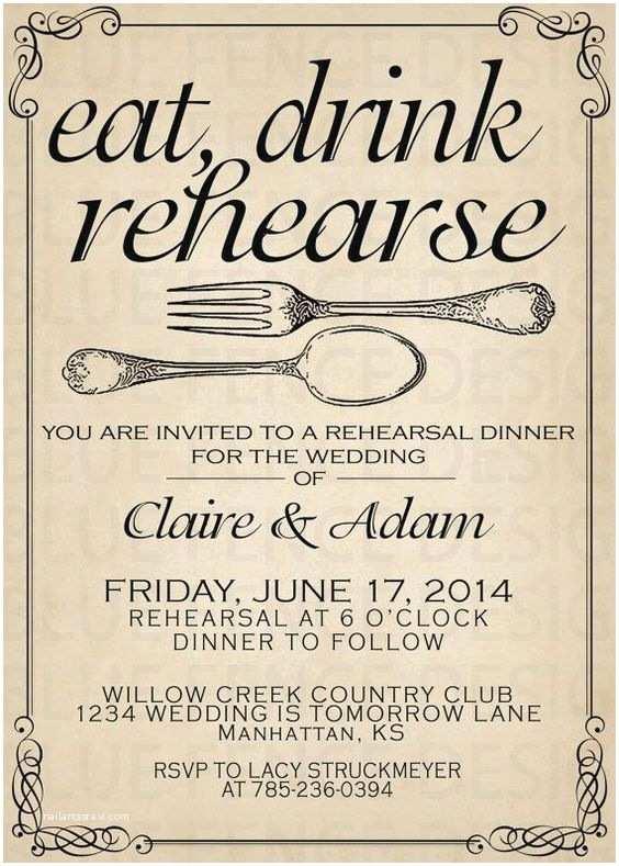 Rehearsal Dinner Invitation Template Dinner Dinner Invitations and Wedding On Pinterest