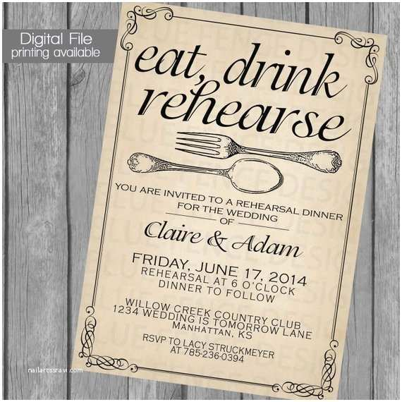 photo regarding Printable Rehearsal Dinner Invitations named Rehearsal Evening meal Invitation Template Printable Rehearsal