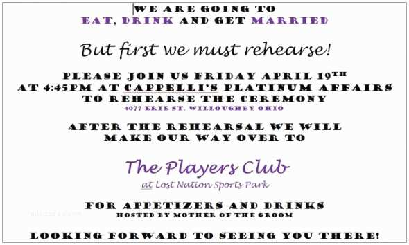 Rehearsal Dinner Invitation Wording Rehearsal Dinner Poem and Quotes Quotesgram