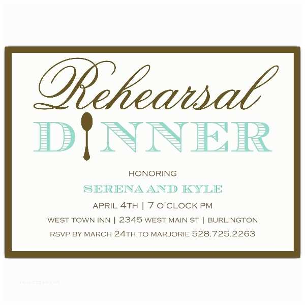 Rehearsal Dinner Invitation Wording Simple Elegance Rehearsal Dinner Invitations