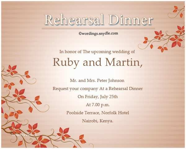 Rehearsal Dinner Invitation Wording Wedding Rehearsal Dinner Invitation Wording Samples