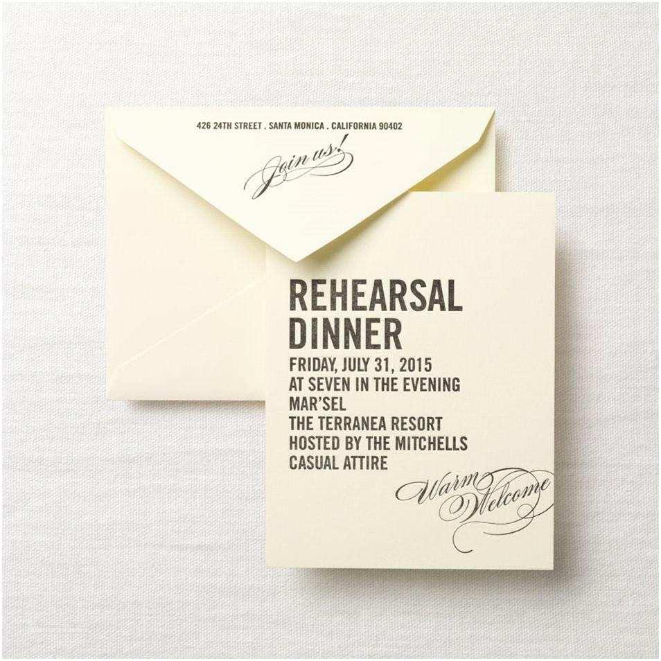 invitations for rehearsal dinner etiquette