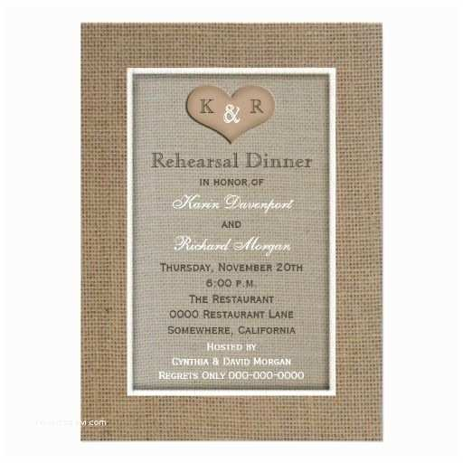 Rehearsal Dinner Invitations Etiquette Rustic Burlap Rehearsal Dinner Invitation