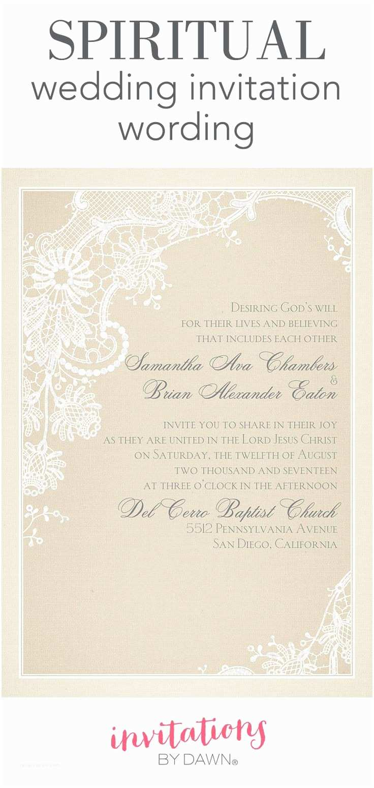Religious Wedding Invitation Wording 25 Best Ideas About Wedding Invitation Wording On