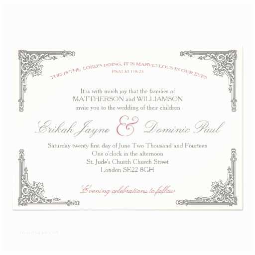 Religious Wedding Invitation Wording Christian Wedding Invitation Marvellous