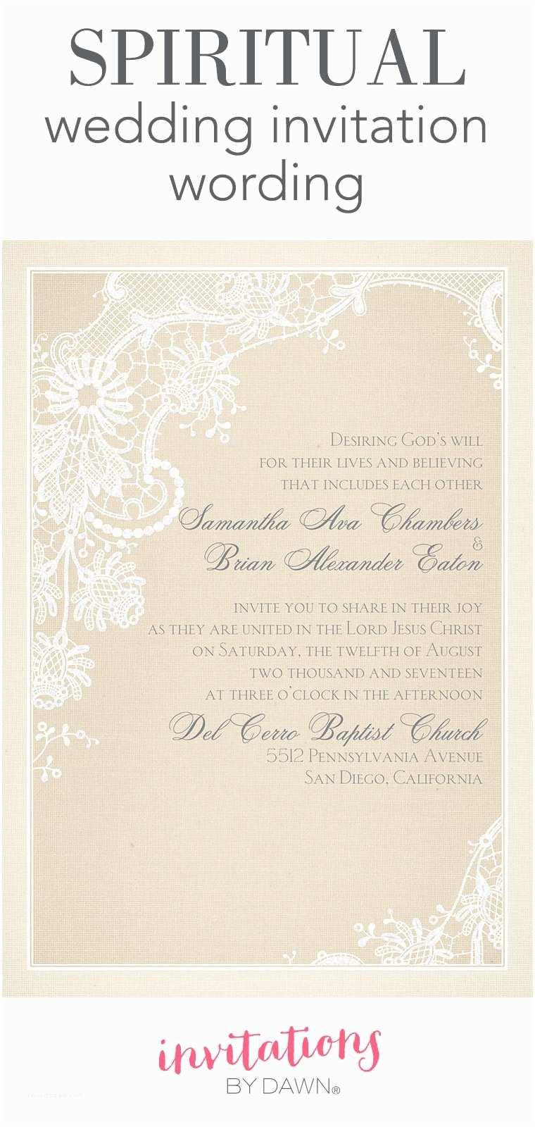 Religious Wedding Invitation Wording Christian Wedding Invitation Wording