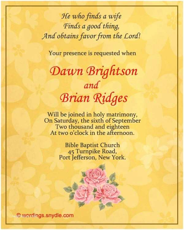 Religious Wedding Invitation Wording Christian Wedding Invitation Wording Samples
