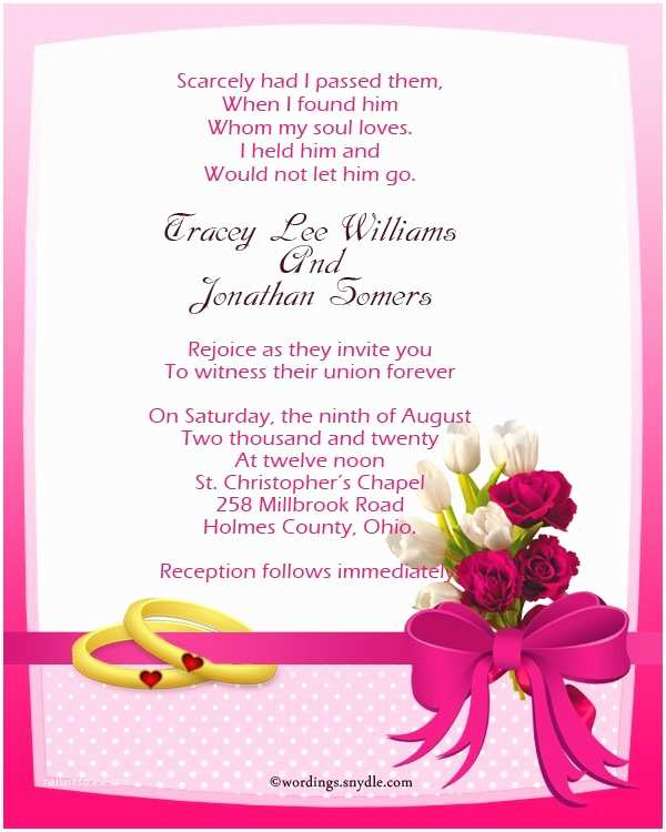 Religious Wedding Invitation Wording Wording for Christian Wedding Invitations Ristian