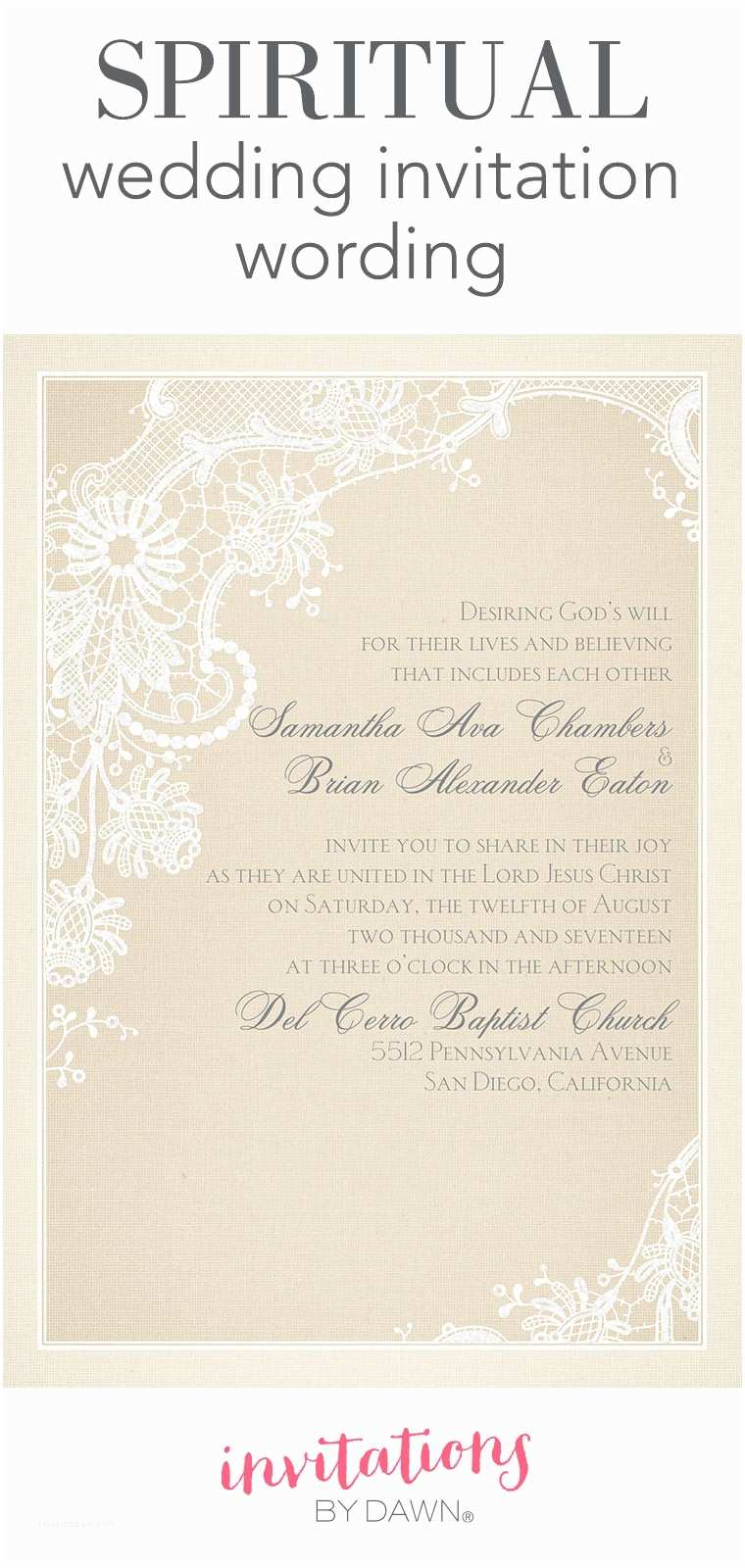 Religious Wedding Invitations Christian Wedding Invitation Wording