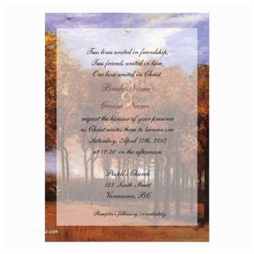 Religious Wedding Invitations Fine Art Christian Fall Wedding Invitations Card