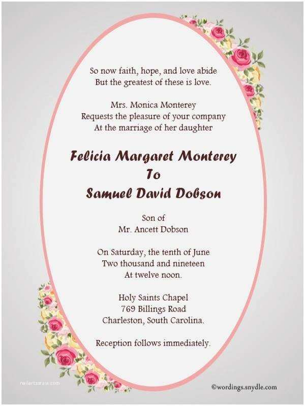 Religious Wedding Invitations Religious Wedding Invitation Wording
