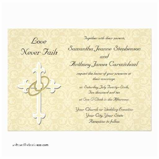 Religious Wedding Invitations Wedding Invitation Elegant Christian Wedding Invitation