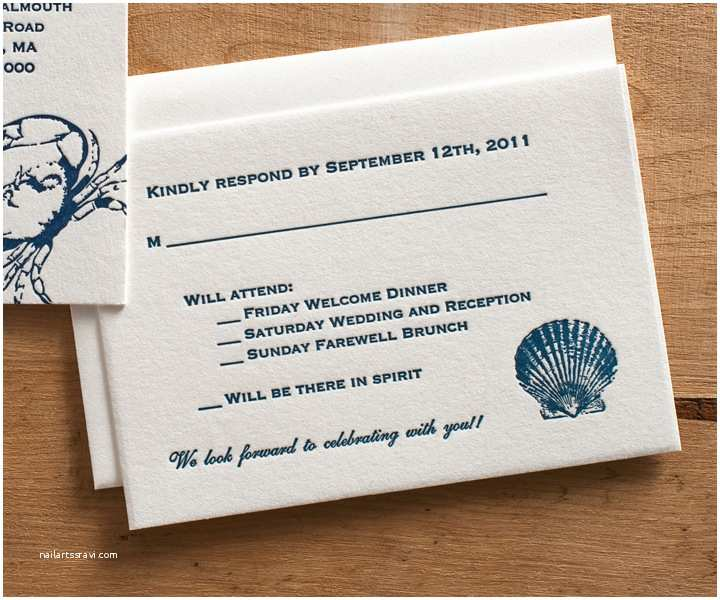 Reply to Wedding Invitation October 2014 Archives Steel Petal Press