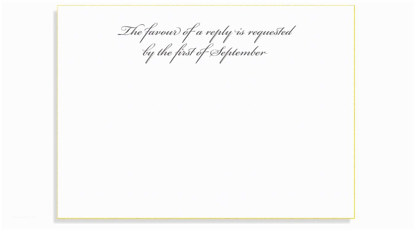 Reply to Wedding Invitation Rsvp Etiquette Traditional Favour Of A Reply