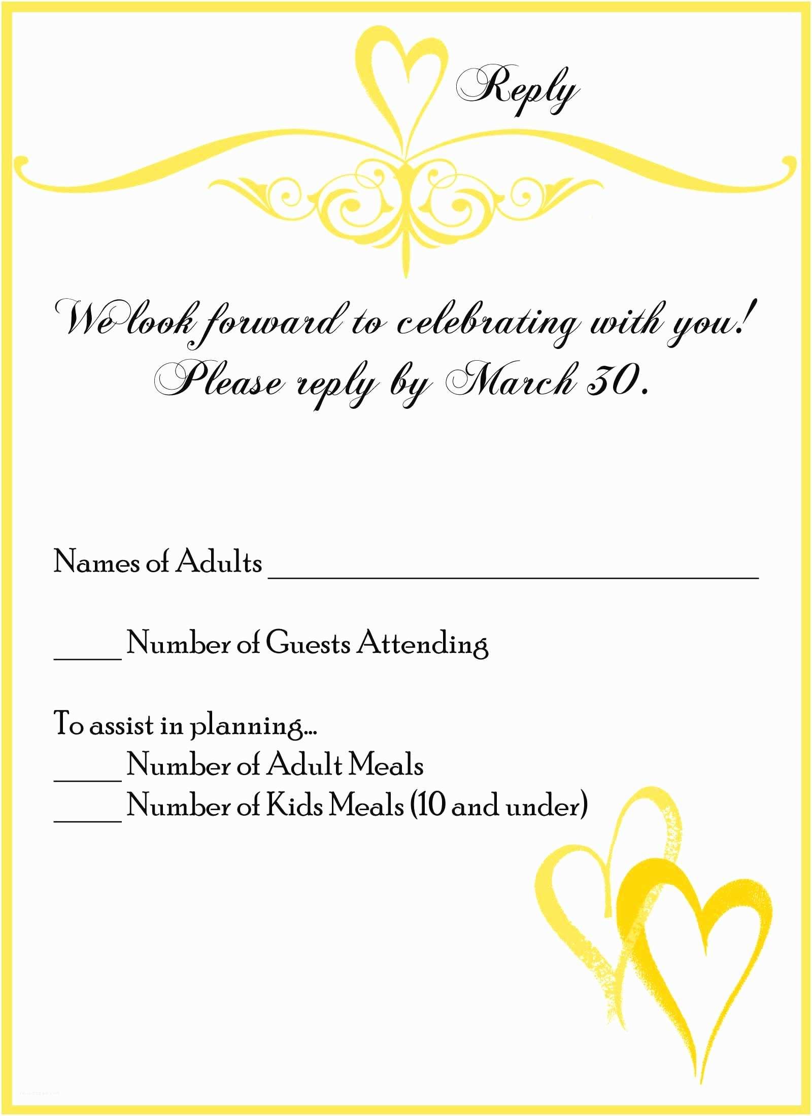Reply To Wedding Invitation Wedding Invitation Reply Card