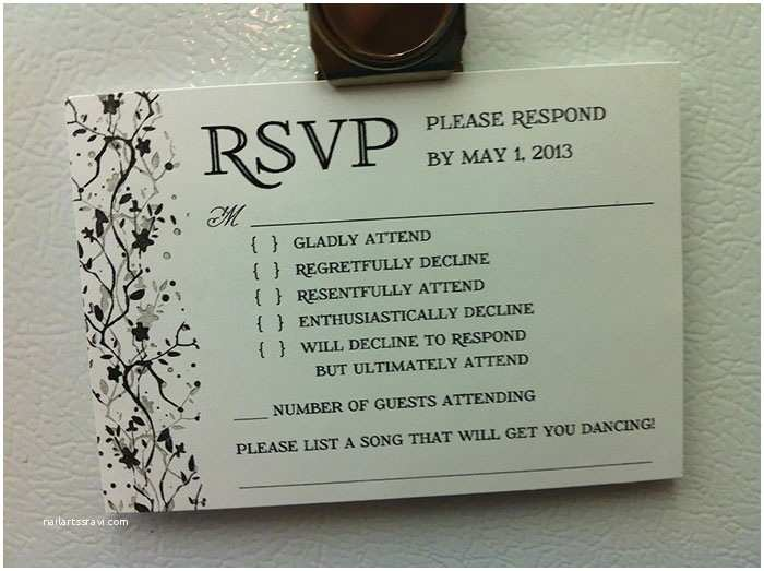Response Card for Wedding Invitation Wording 9 Hilarious Wedding Invitations that Simply Can't Be