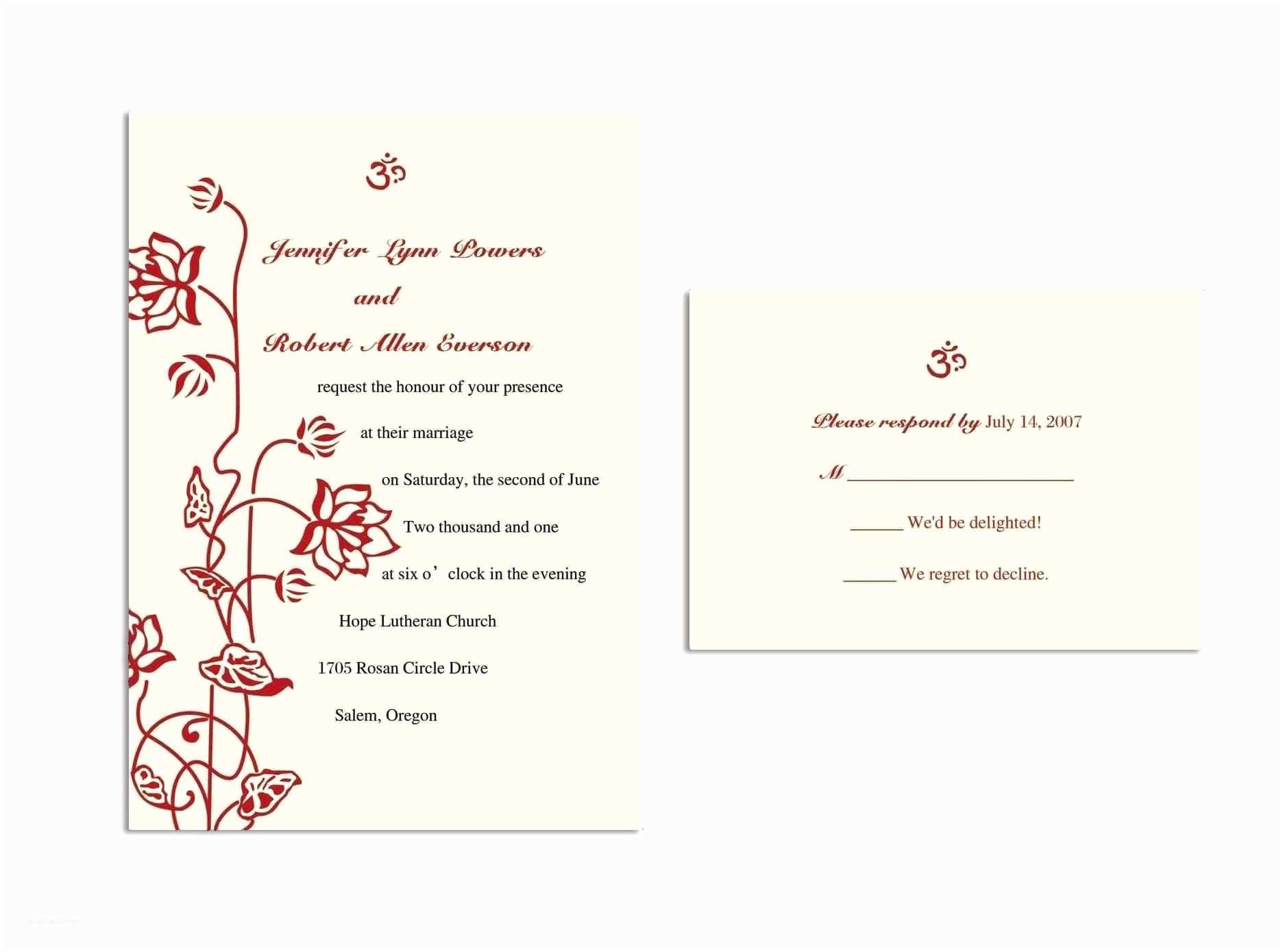 Response Card for Wedding Invitation Wording Business Card Template Business Card Template Freepik