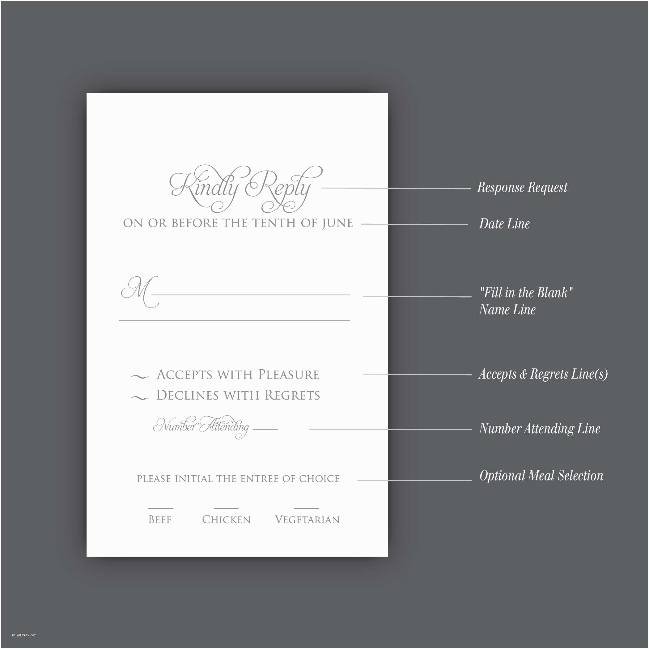 Response Card for Wedding Invitation Wording Invitation Card Wedding Invitation Reply Card Wording