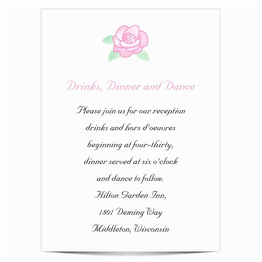 Response Card for Wedding Invitation Wording Wedding Reception Invitation Wording