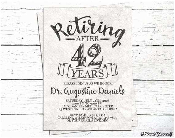 Retirement Invitation Ideas Best 25 Retirement Invitations Ideas On Pinterest