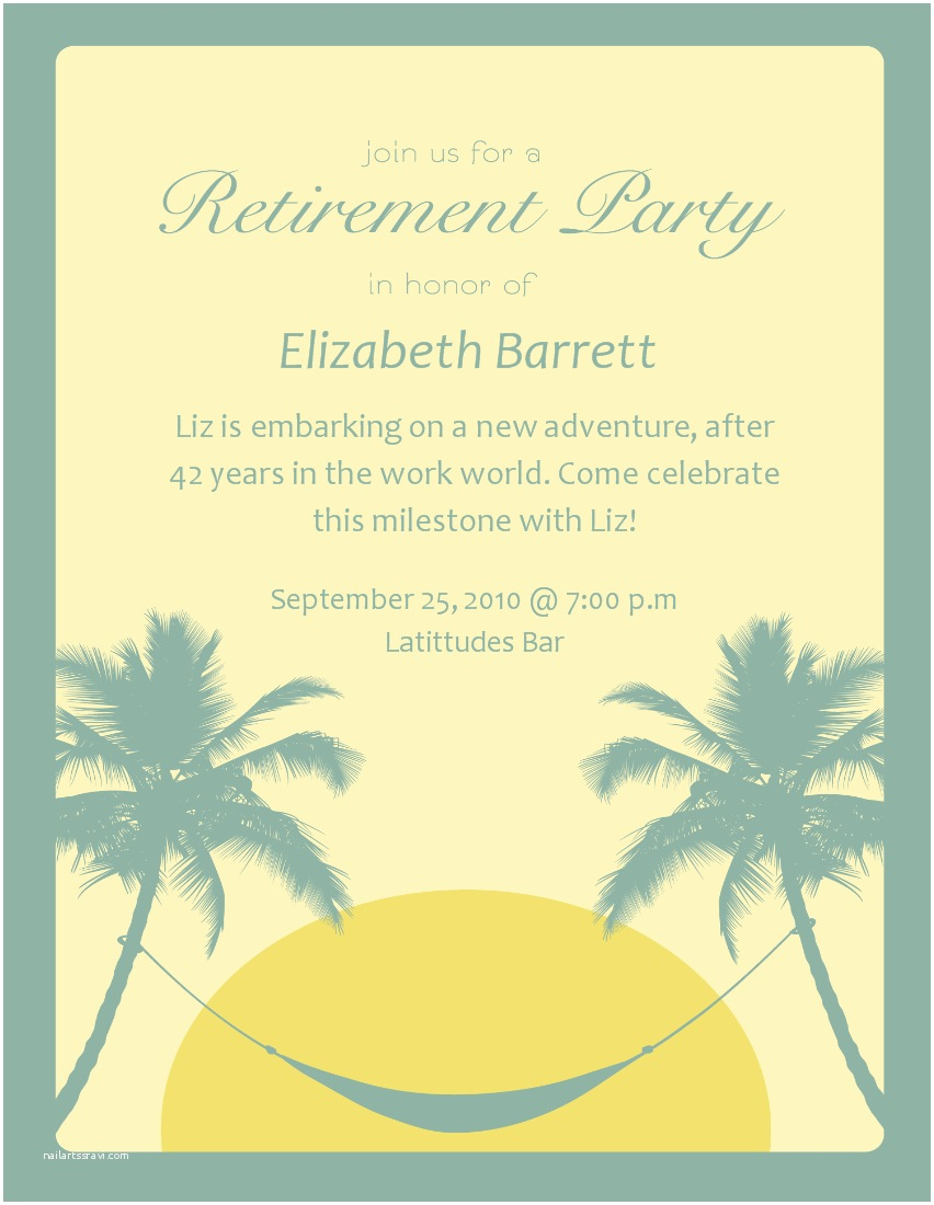 Retirement Invitation Template 18 Awesome Examples Of Farewell and Retirement Invitation
