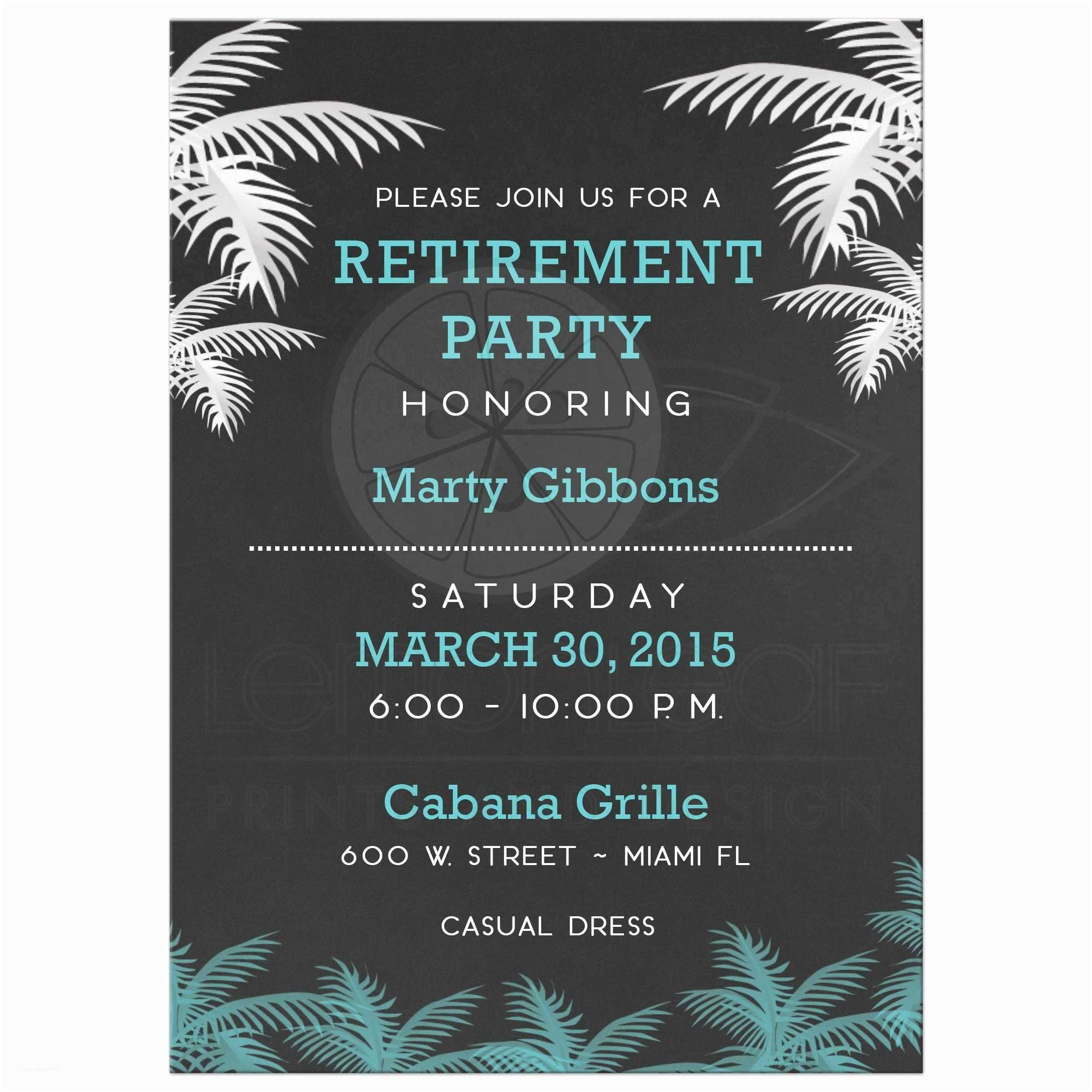 Retirement Invitation Template Retirement Party Invitations – Gangcraft