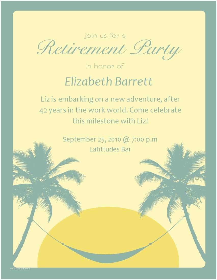 Retirement Invitation Template Tips for Choosing Retirement Party Invitation Wording