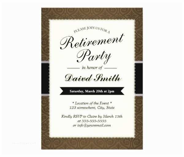 Retirement Invitation Templates Free 30 Retirement Party Invitation Design & Templates Psd