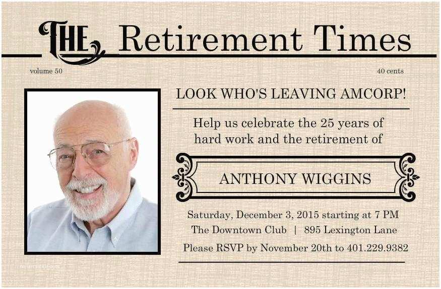 Retirement Invitation Templates Free Retirement Flyer Template Free
