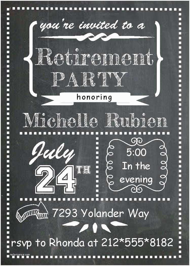 Retirement Invitation Templates Free Template Retirement Party Invitation Template